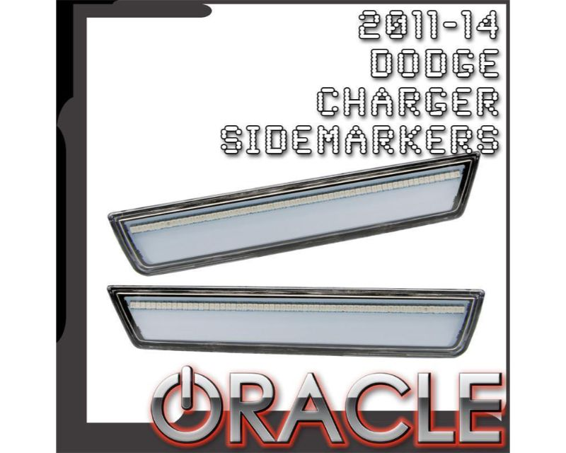 Oracle Lighting 9834-PRY-G Concept Sidemarker Rear Set Red Line Pearl - GHOSTED Dodge Charger 2011-2014