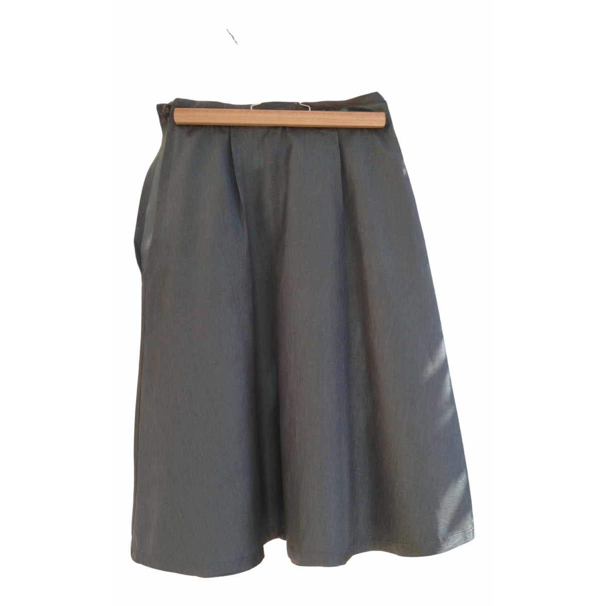 Aigner \N Green Silk skirt for Women 36 FR