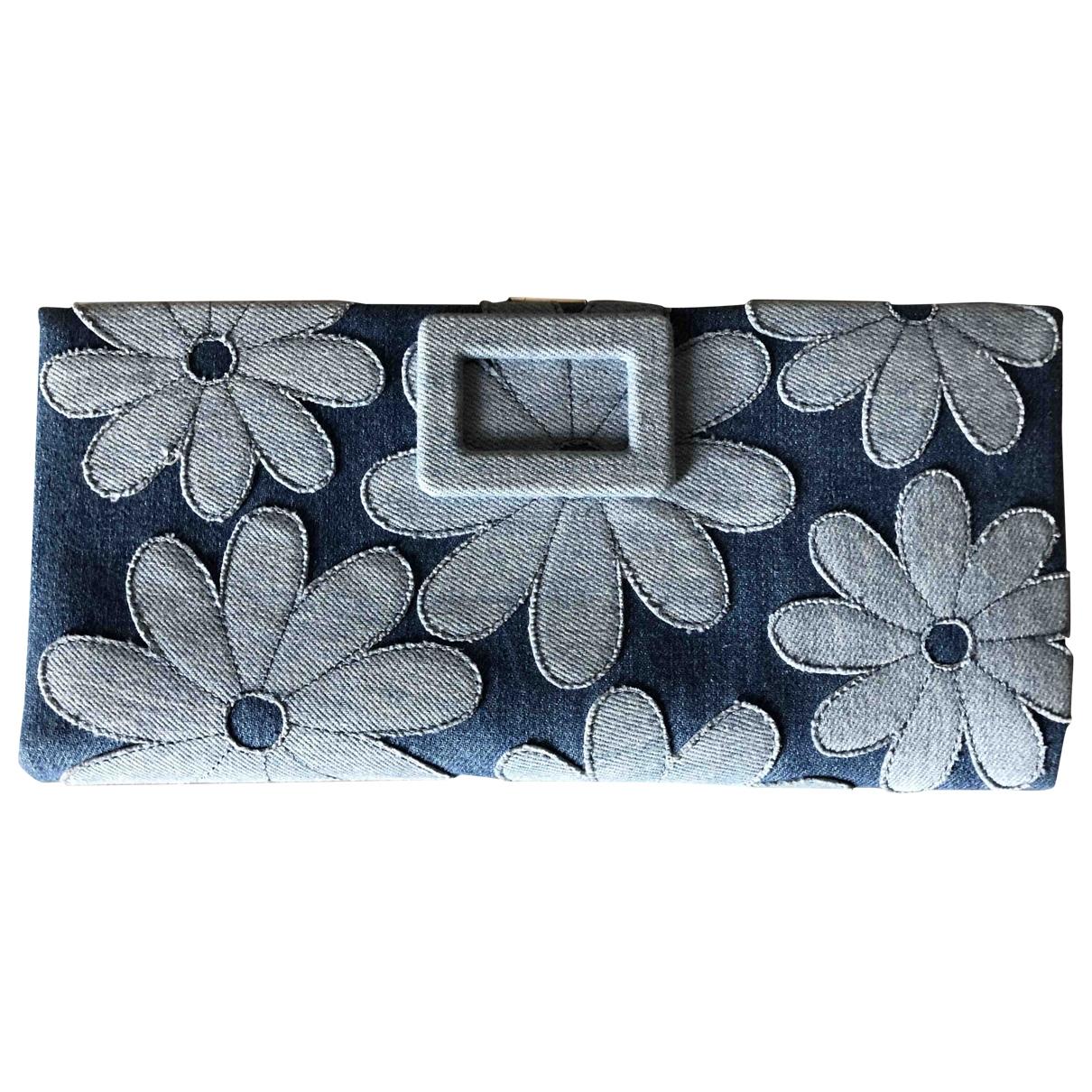 Roger Vivier \N Blue Denim - Jeans Clutch bag for Women \N