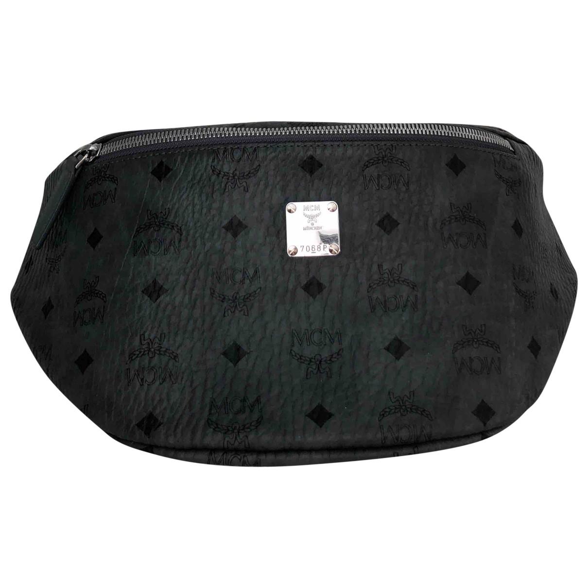 Mcm \N Grey Leather bag for Men \N