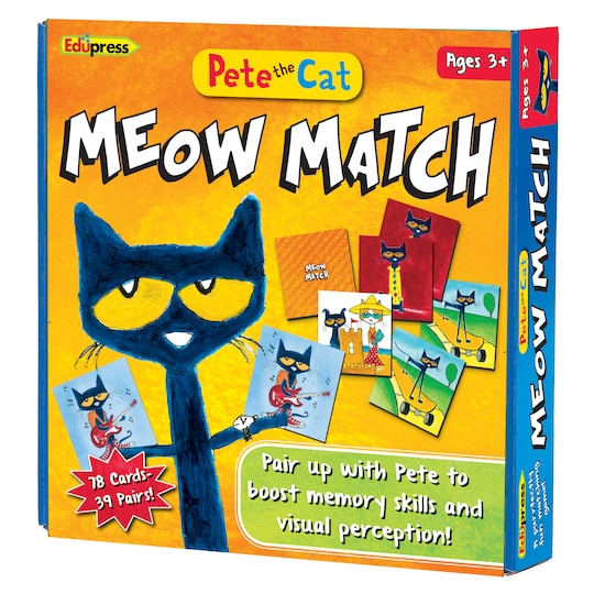 Pete The Cat, Meow Match Game By Teacher Created Resources   Michaels®