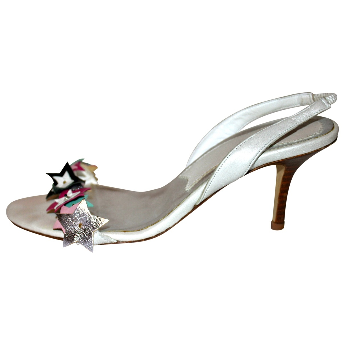 Patrizia Pepe \N White Leather Heels for Women 37 EU