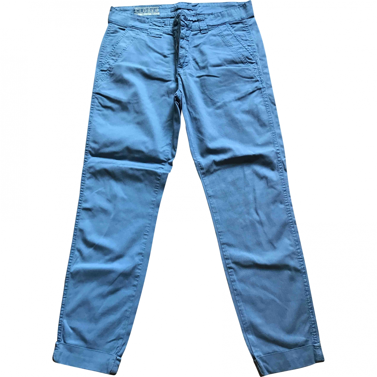 Closed \N Blue Cotton Trousers for Women 40 IT