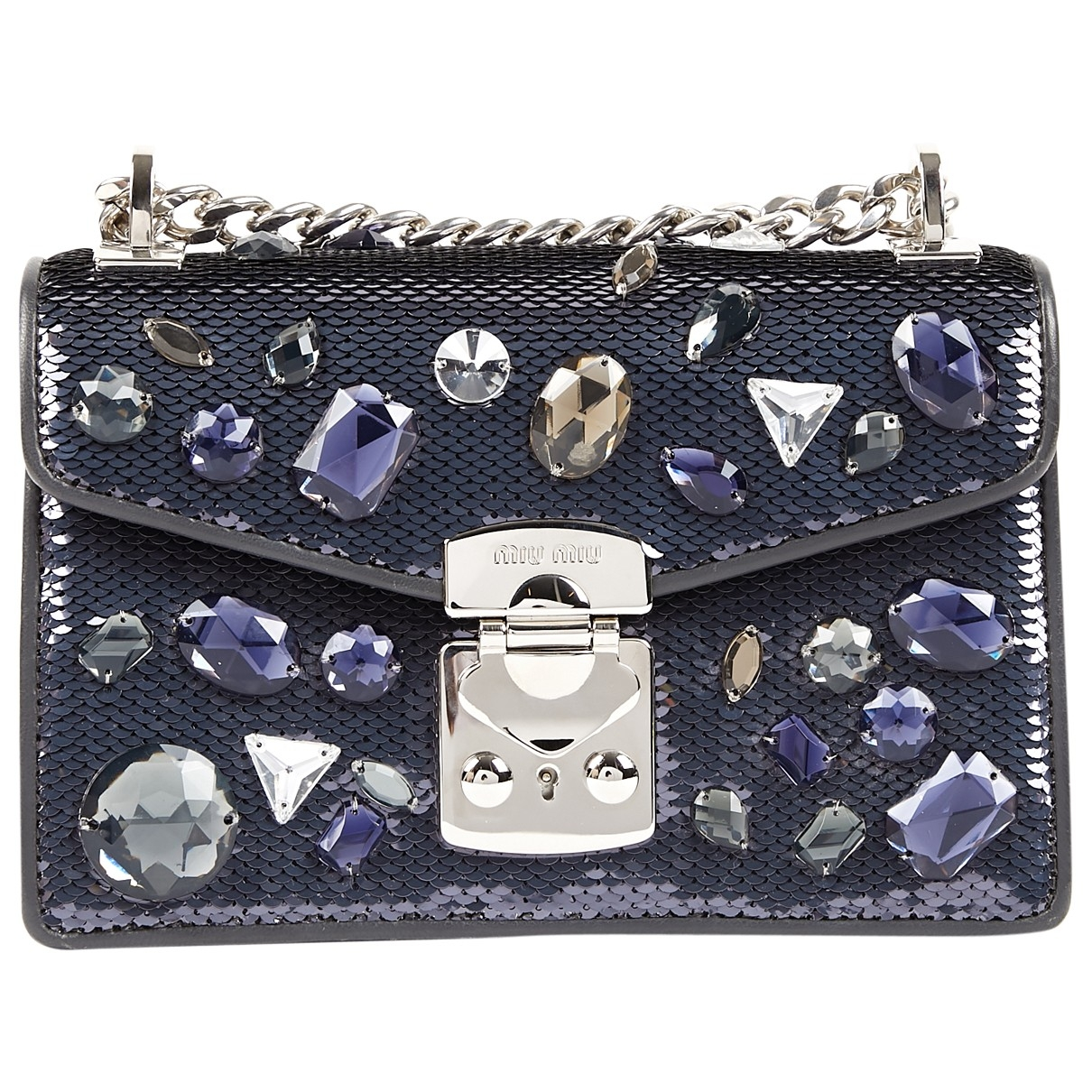 Miu Miu Miu Confidential Black Glitter handbag for Women \N