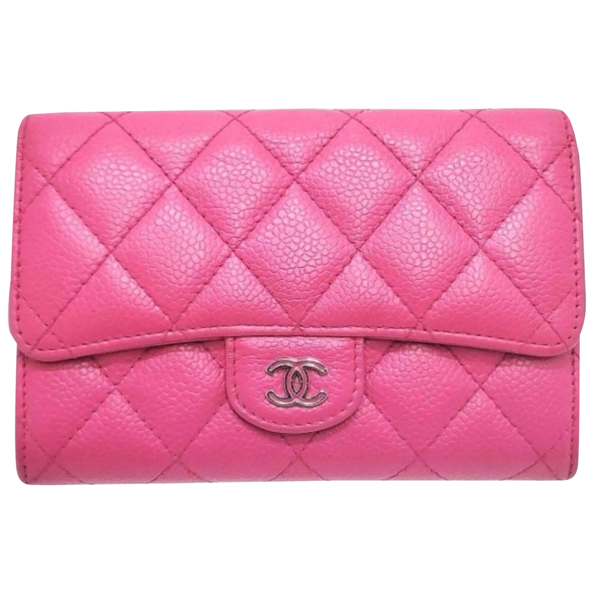 Chanel Timeless/Classique Pink Leather wallet for Women \N