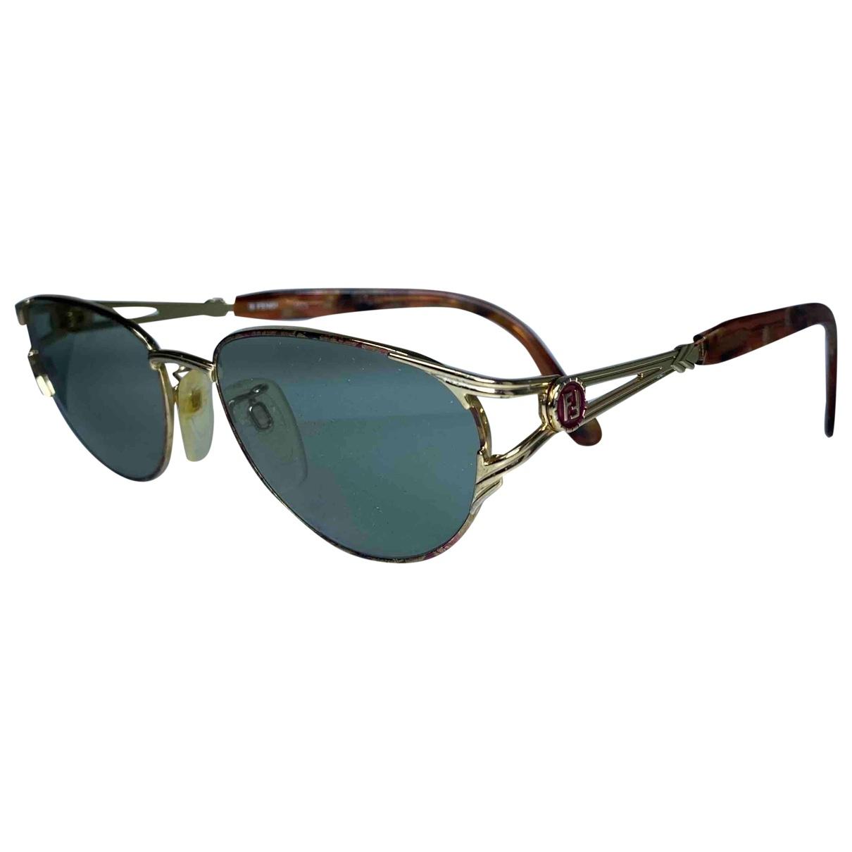 Fendi \N Gold Metal Sunglasses for Men \N