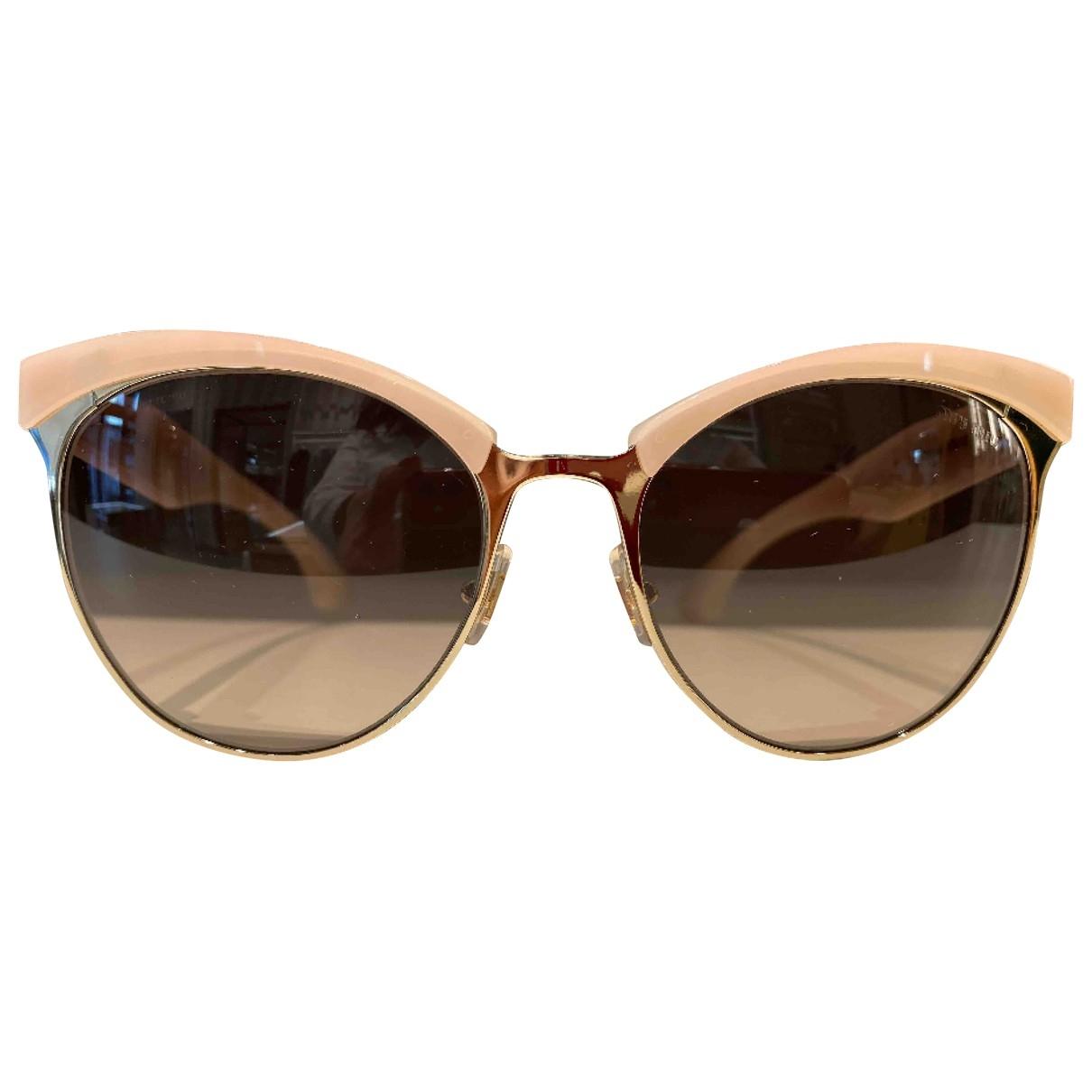Miu Miu \N Pink Metal Sunglasses for Women \N