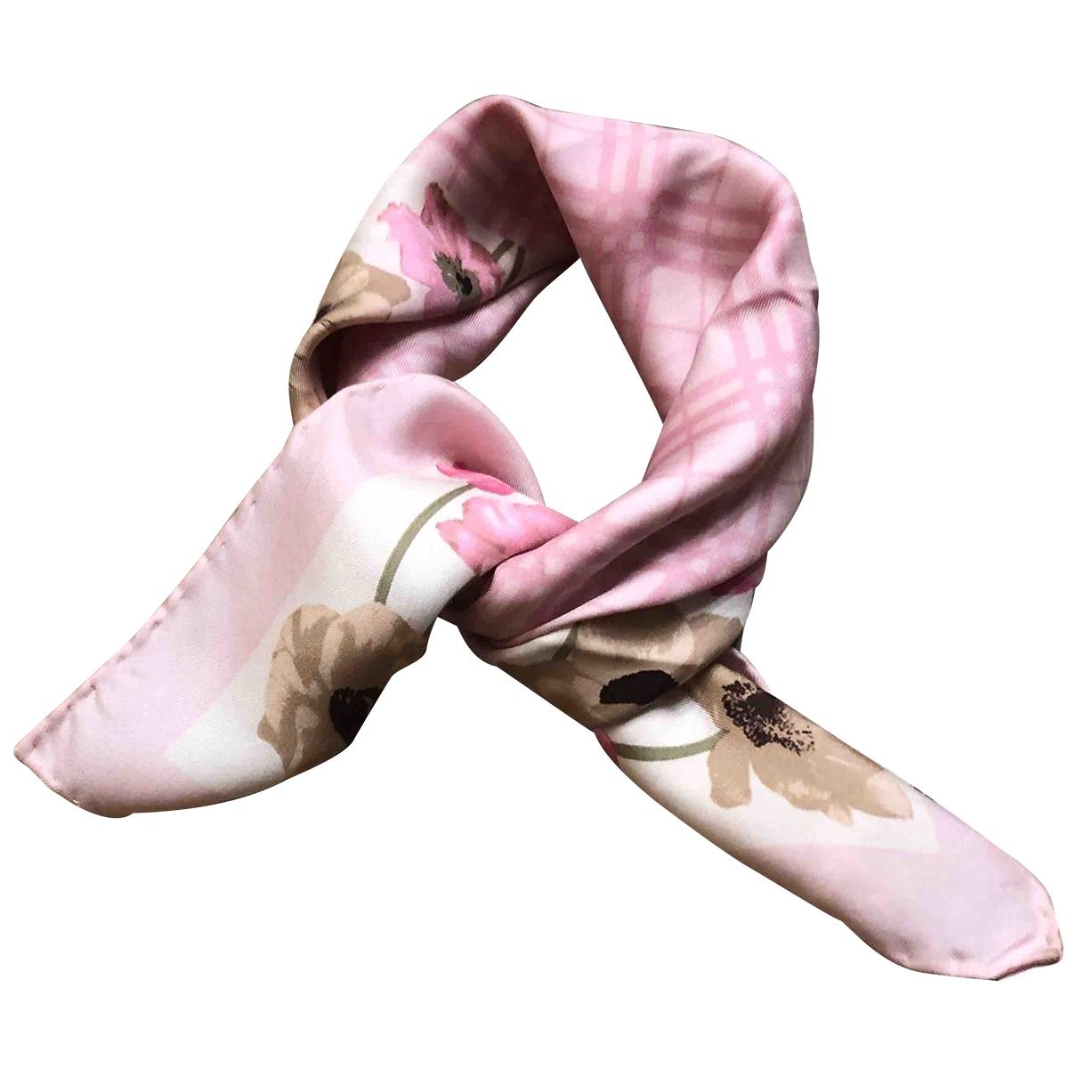 Burberry \N Pink Silk Silk handkerchief for Women \N