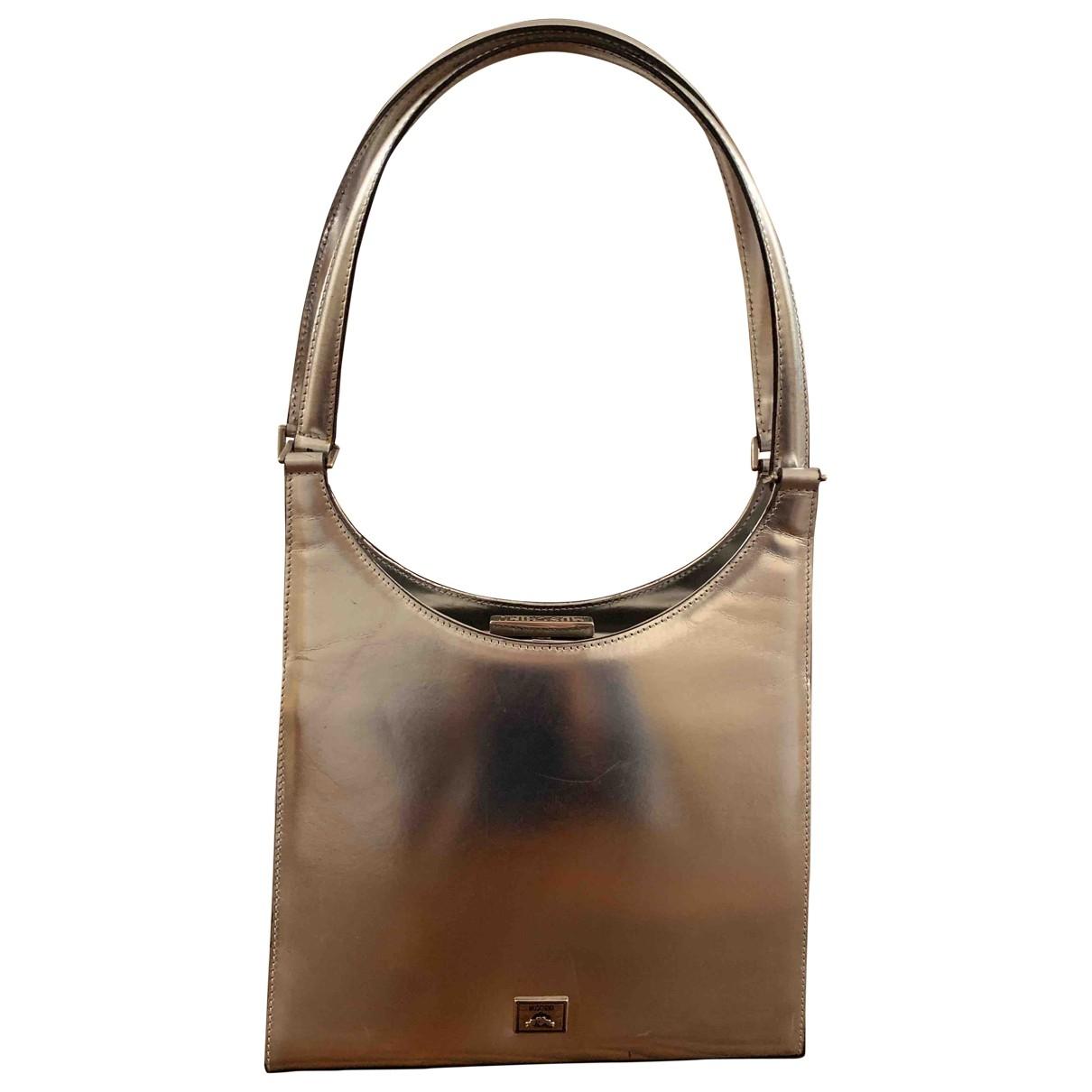 Moschino \N Silver Leather handbag for Women \N