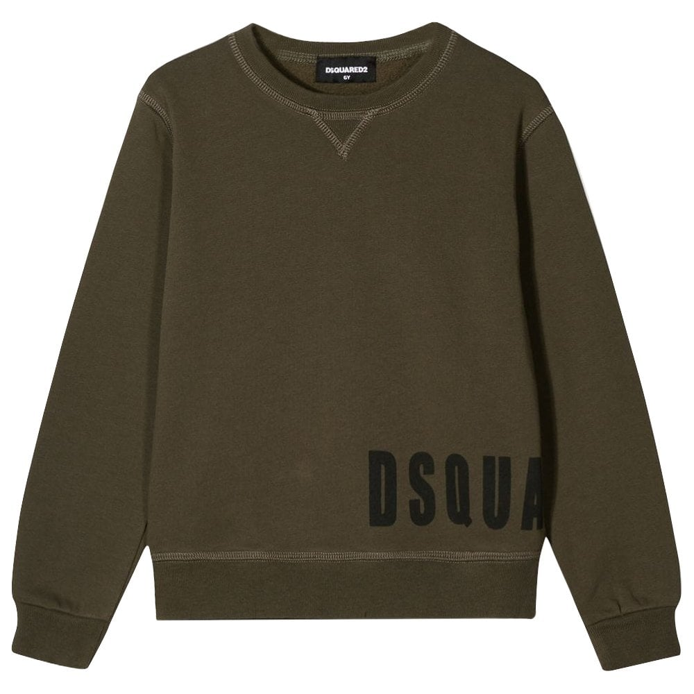 Dsquared2 Kids Side Logo Sweatshirt Colour: KHAKI, Size: 10 YEARS