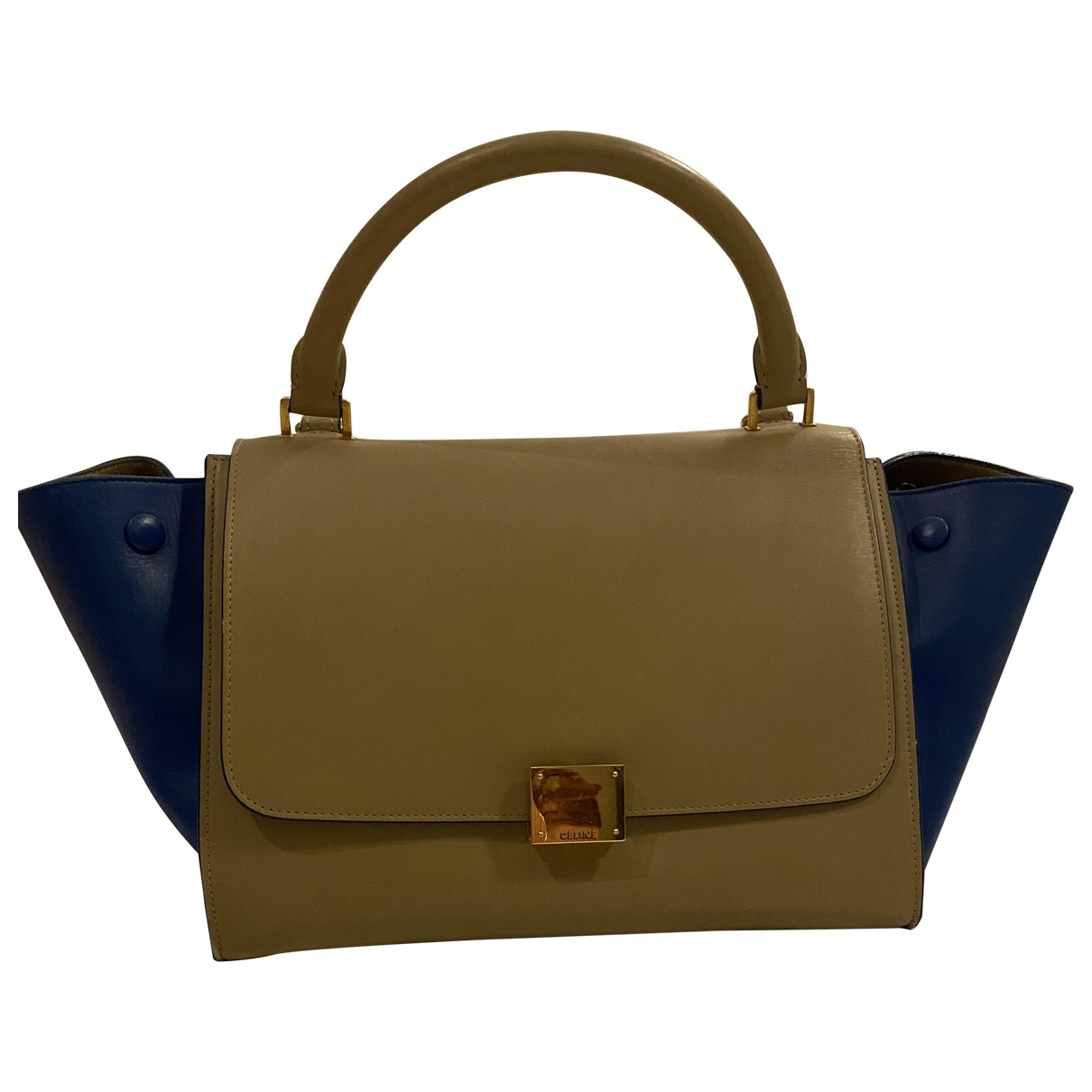 Celine Trapèze Beige Leather handbag for Women \N