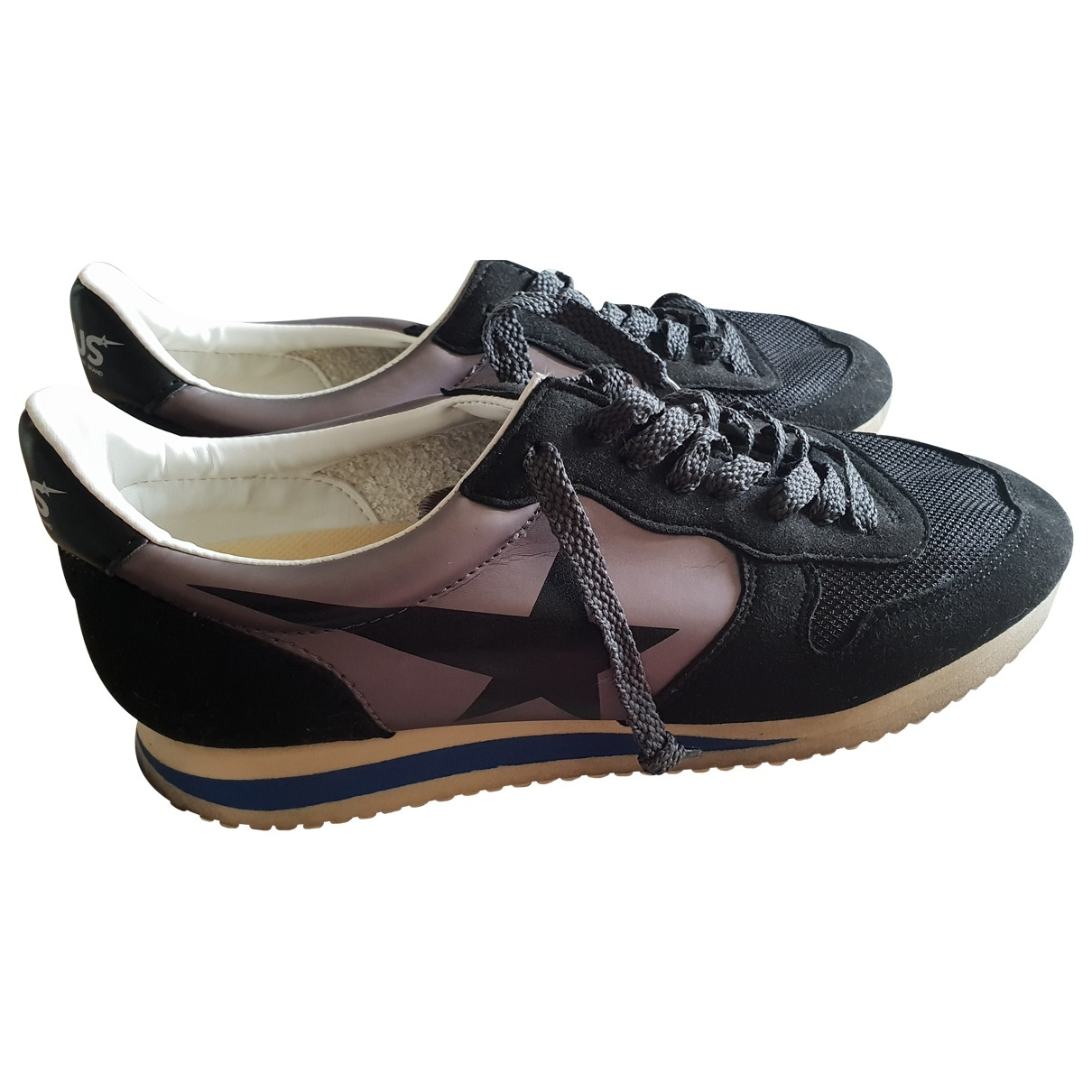 Golden Goose \N Black Leather Trainers for Women 37 EU