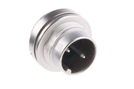 Binder Connector, 2 contacts Panel Mount Miniature Socket, Solder IP40