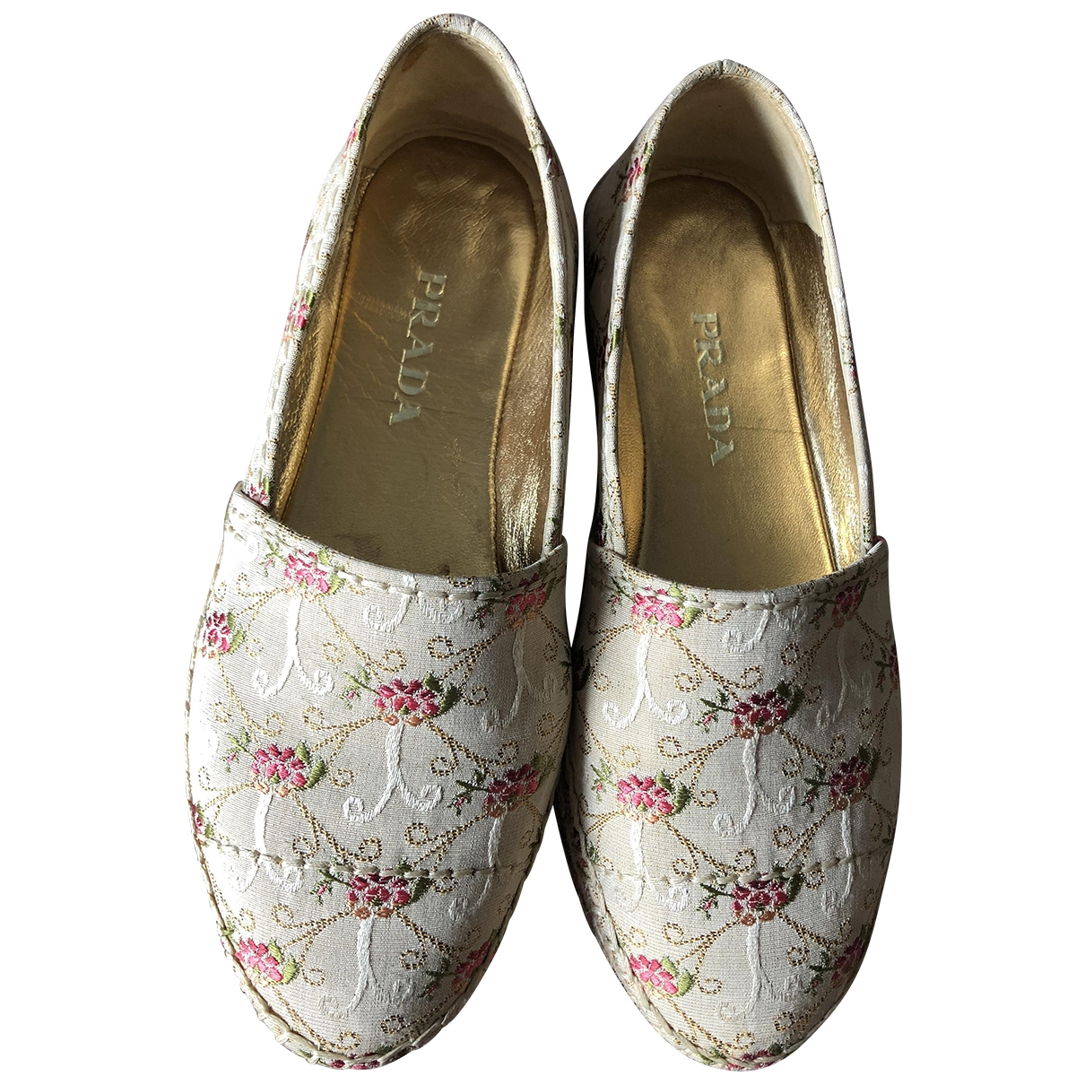 Prada \N Beige Cloth Espadrilles for Women 36.5 EU