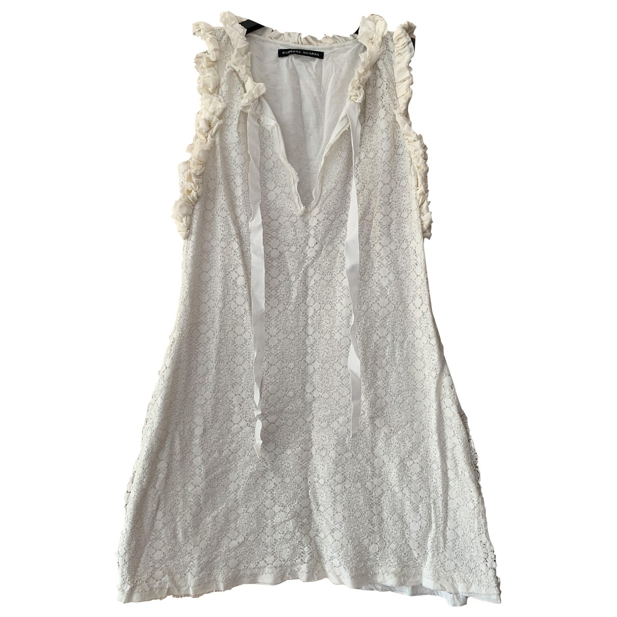 Non Sign?? / Unsigned \N White Cotton dress for Women 42 IT