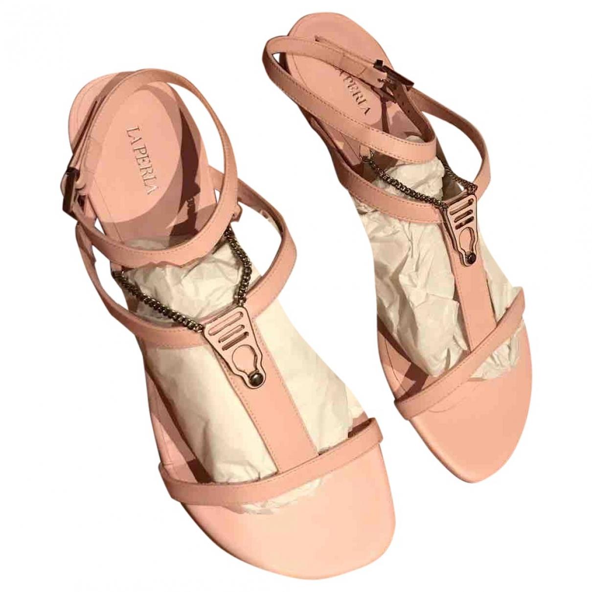 La Perla \N Beige Leather Sandals for Women 6 UK