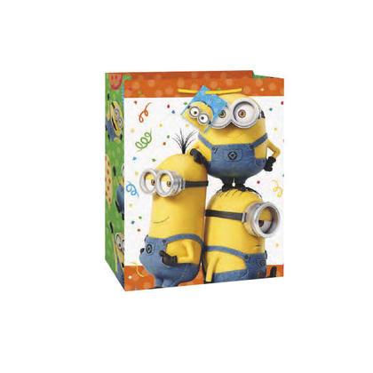 Grand Sac Cadeau Despicable Me Minion 12.5''H x 10.5''W 1Pcs Pour la fête d'anniversaire