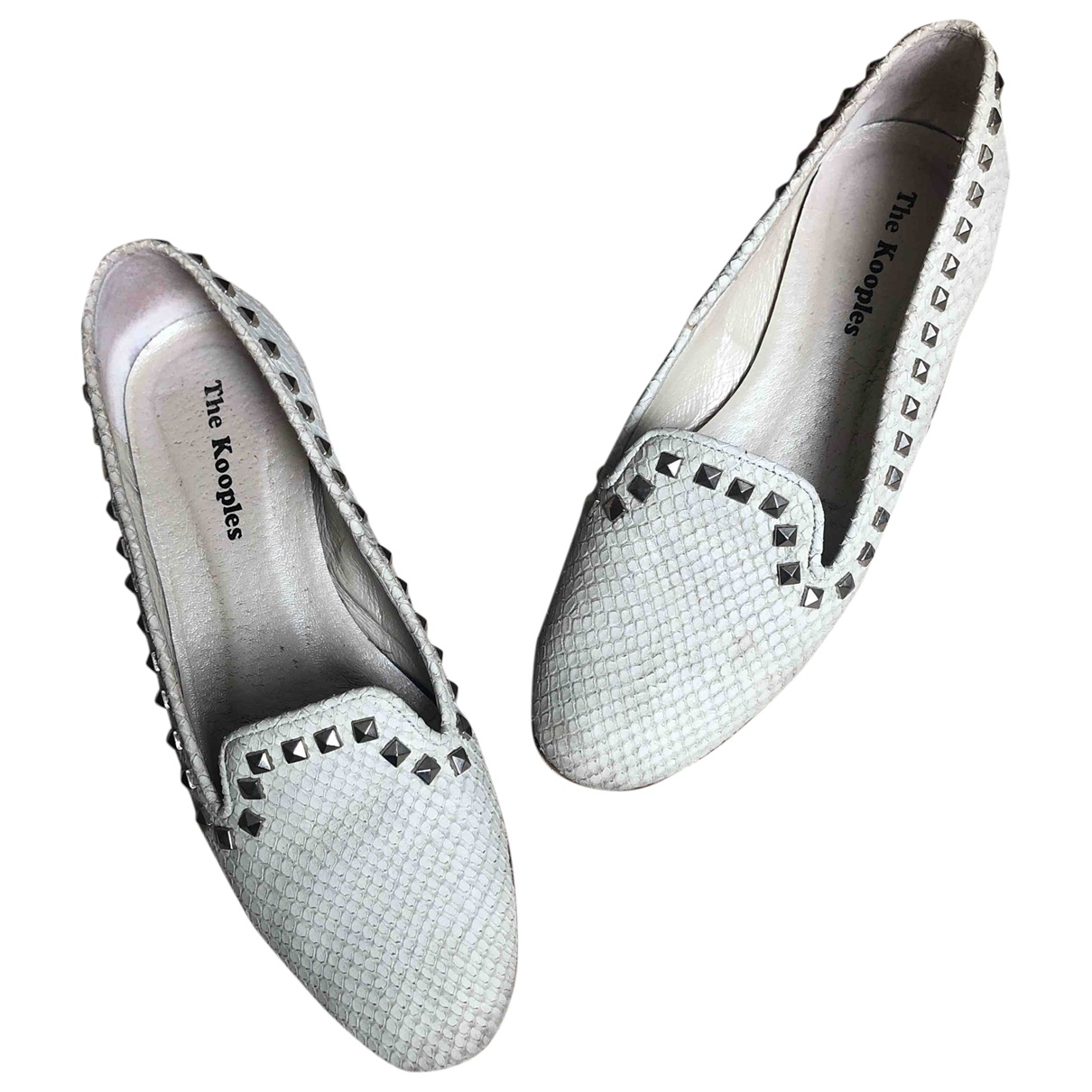 The Kooples \N White Leather Ballet flats for Women 37 EU