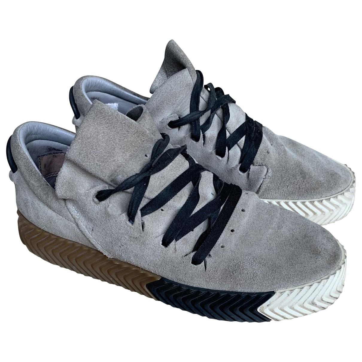 Adidas Originals X Alexander Wang \N Beige Suede Trainers for Men 7 UK