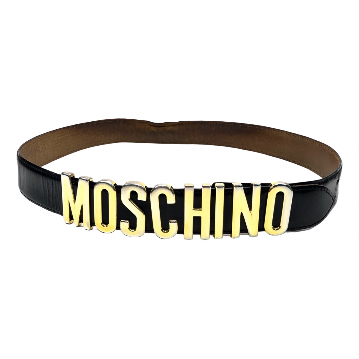 Moschino \N Black Leather belt for Women L International