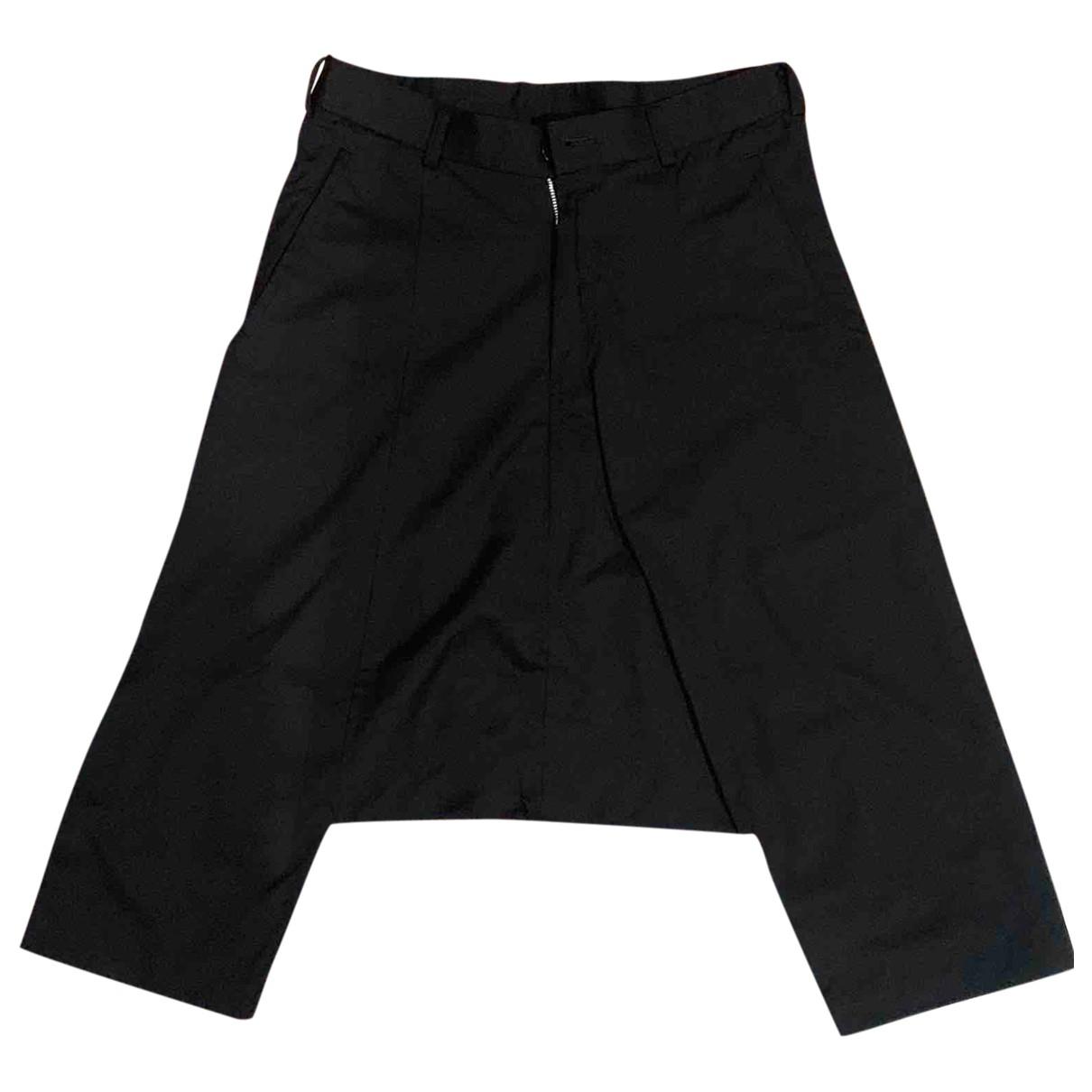 Comme Des Garcons \N Black Cotton Trousers for Women XS International