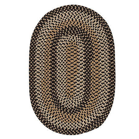 Colonial Mills Brook Farm Reversible Braided Indoor or Outdoor Oval Rug, One Size , Black