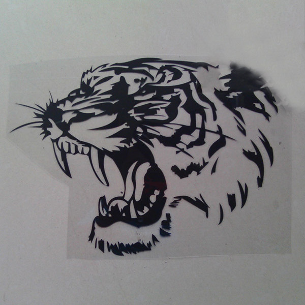 Creative Hollow Out Tiger Head Car Engine Cover Sticker