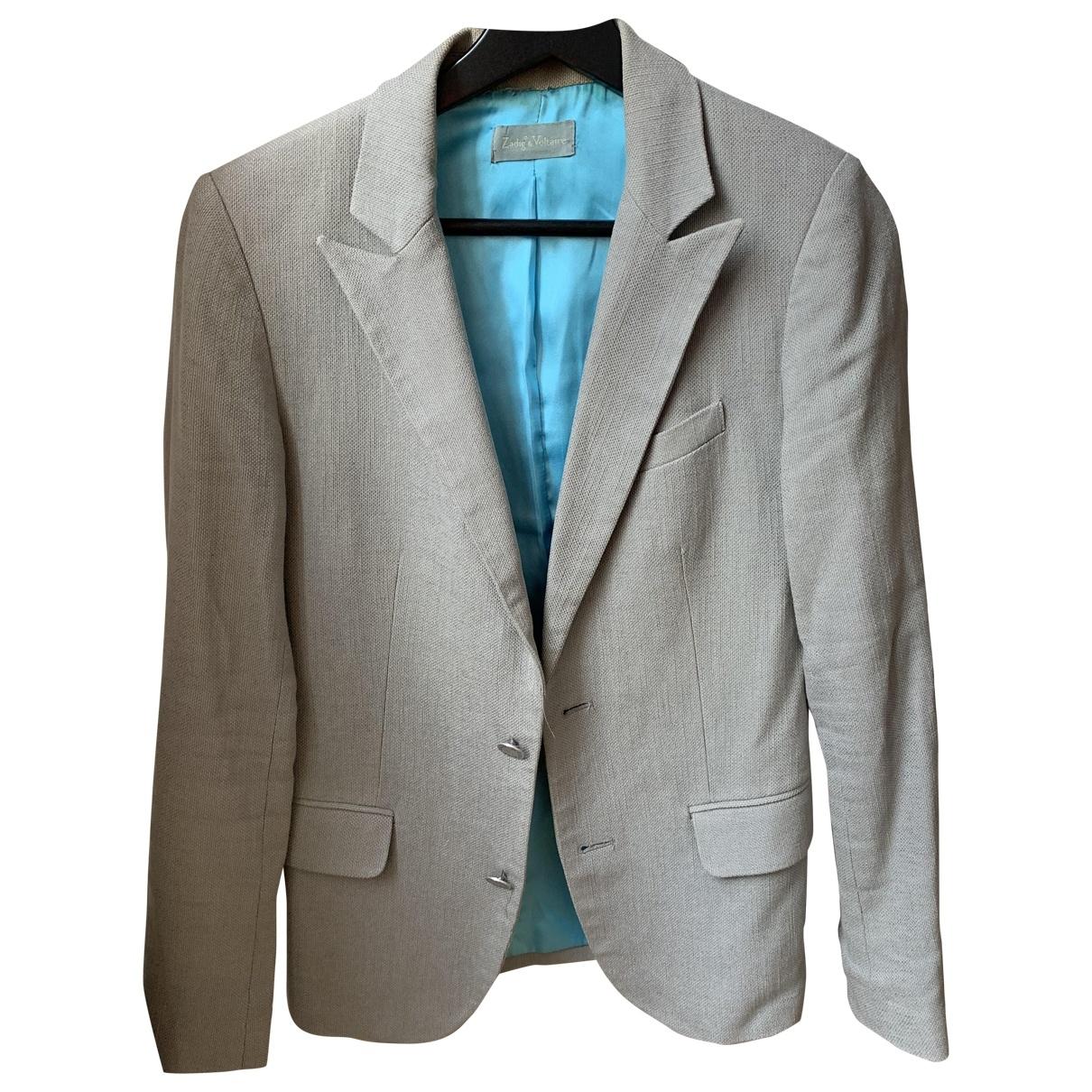 Zadig & Voltaire \N Grey Cotton jacket for Women S International
