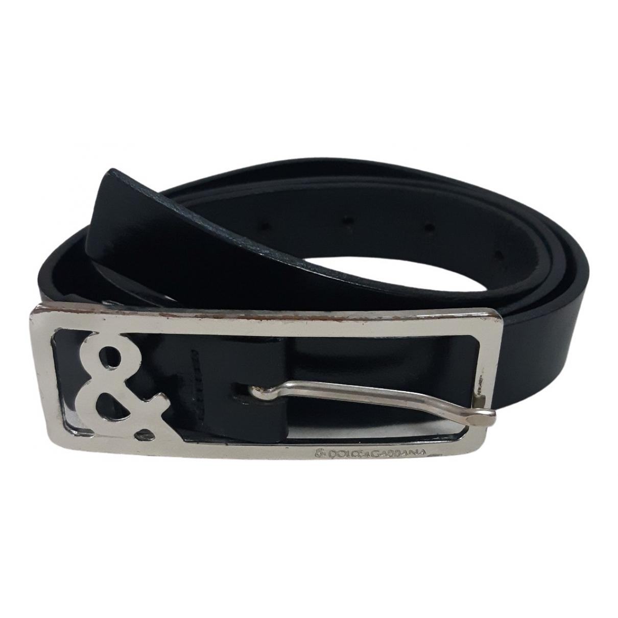 D&g \N Black Leather belt for Women 95 cm