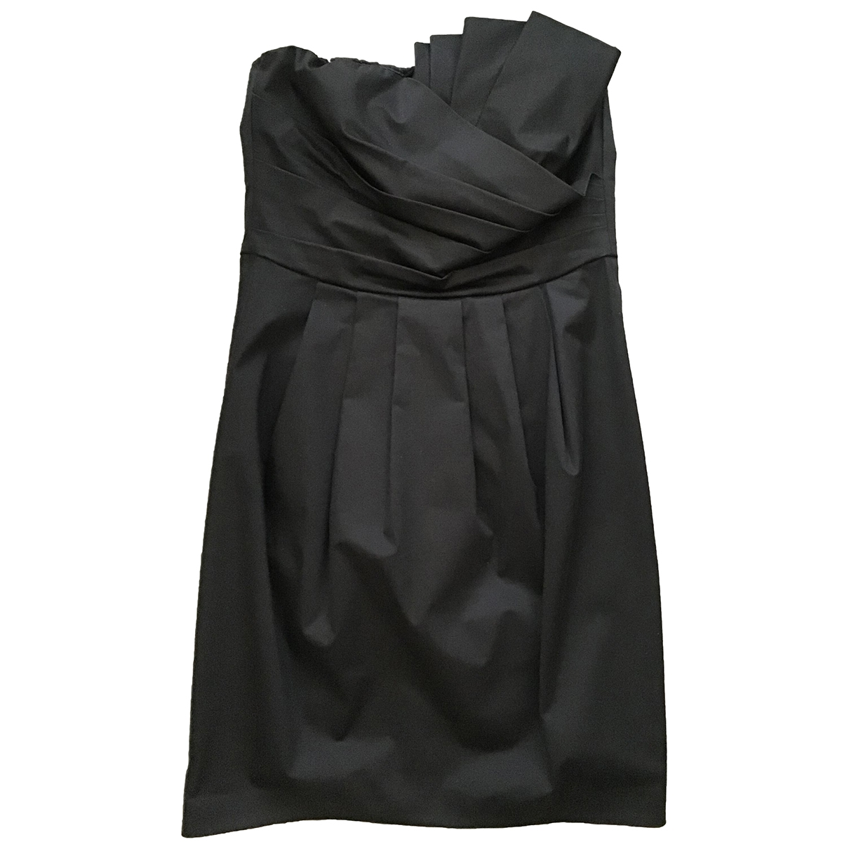 Non Sign?? / Unsigned \N Black Cotton - elasthane dress for Women 42 IT
