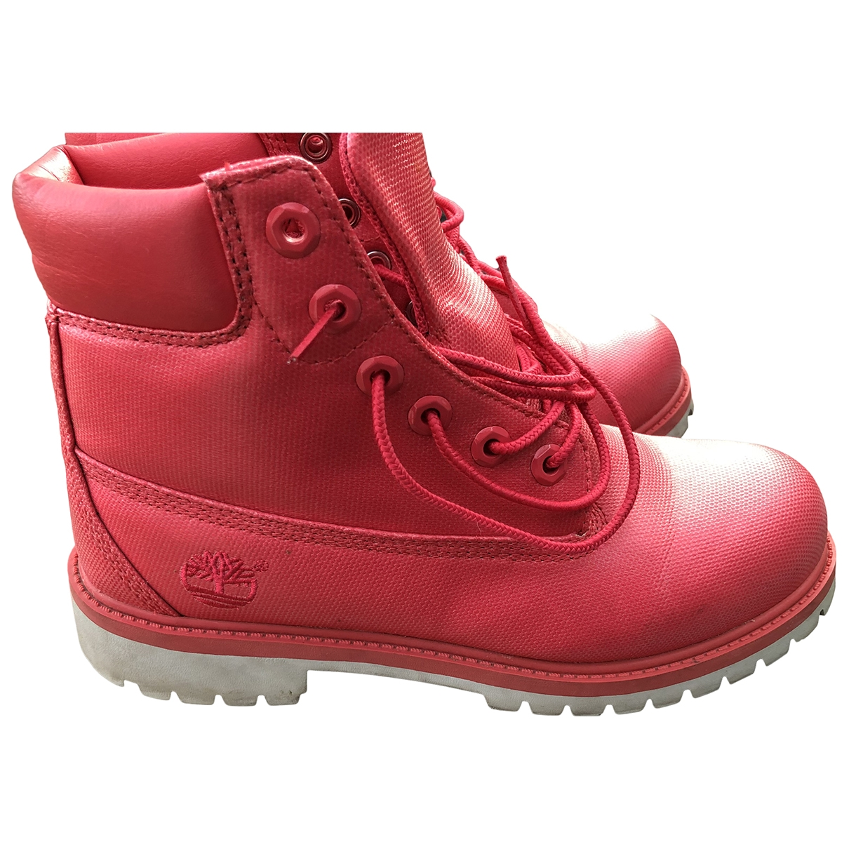 Timberland \N Pink Cloth Ankle boots for Women 38 EU