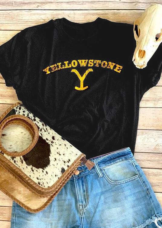 Yellowstone T-Shirt Tee - Black