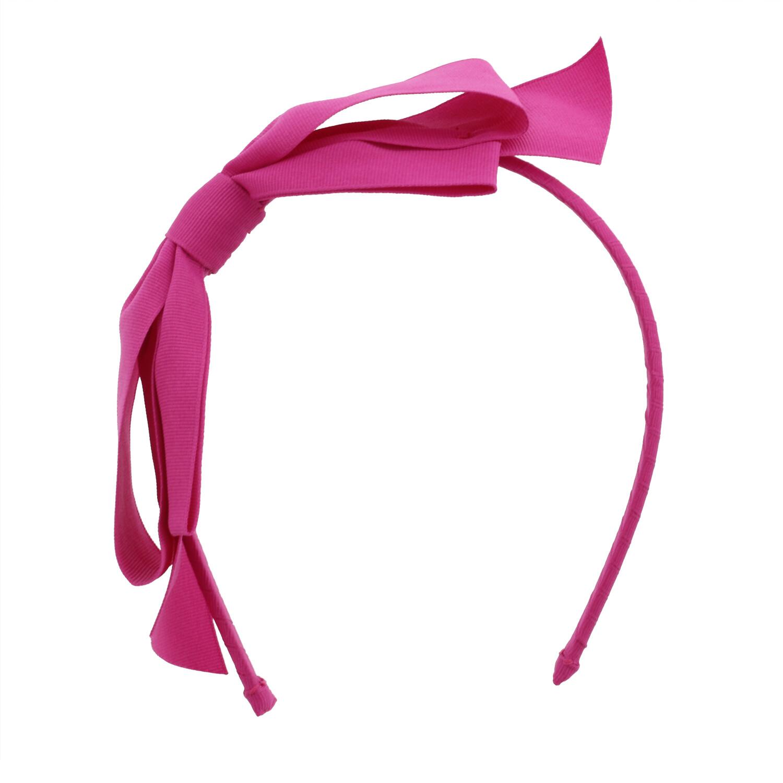 Janie And Jack Girl's Bow Headband Hair Accessory - One Size - Fuchsia