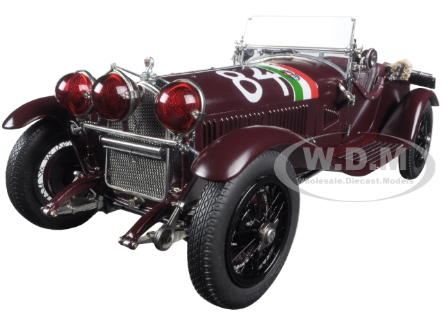 1930 Alfa Romeo 6C 1750 Grand Sport Mille Miglia 84 Limited Edition to 2000pcs 1/18 Diecast Model Car by CMC