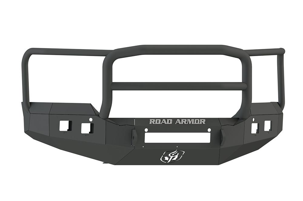 GMC Front Non-Winch Bumper Square Light Ports 2500,3500 15-16 BLACK Lonestar Guard Road Armor 215R5B-NW Stealth Series