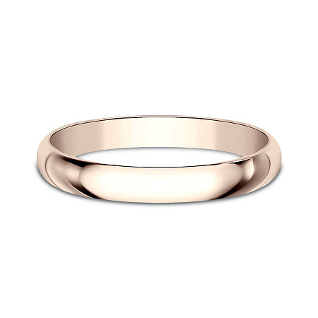 Womens 2.5mm 14K Rose Gold Wedding Band, 10 1/2 , No Color Family