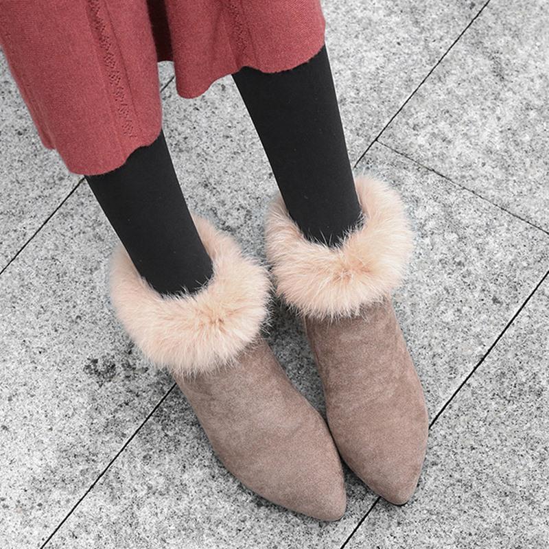 Ericdress Pointed Toe Side Zipper Western Women's Boots