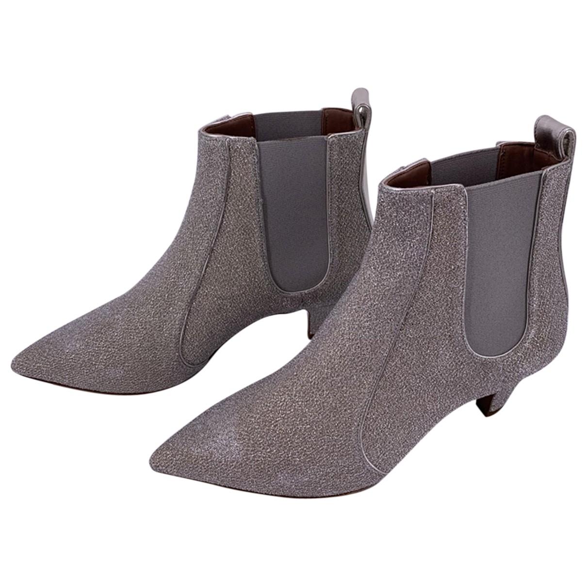 Tabitha Simmons \N Grey Glitter Ankle boots for Women 37.5 EU