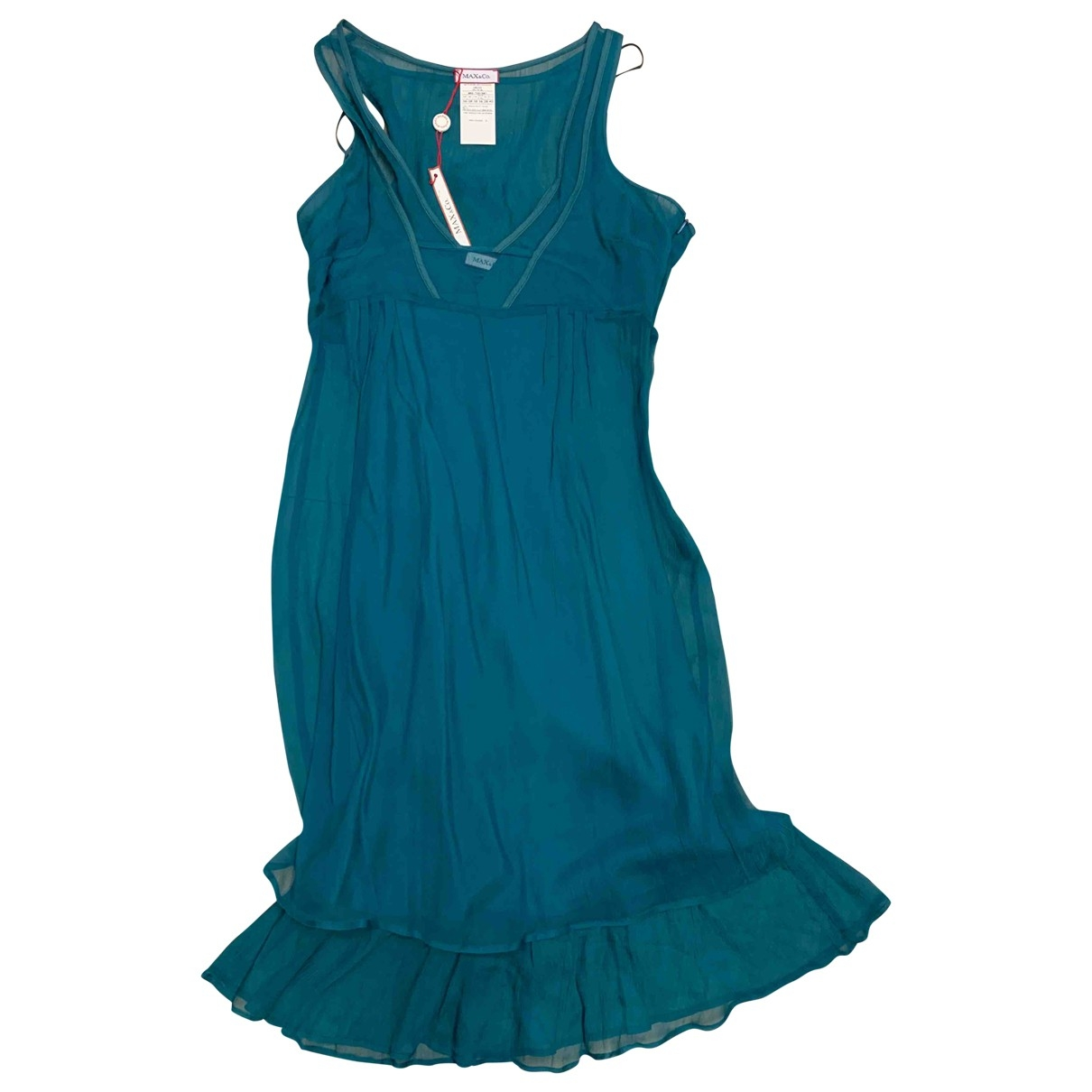 Max & Co \N Green Silk dress for Women 40 IT