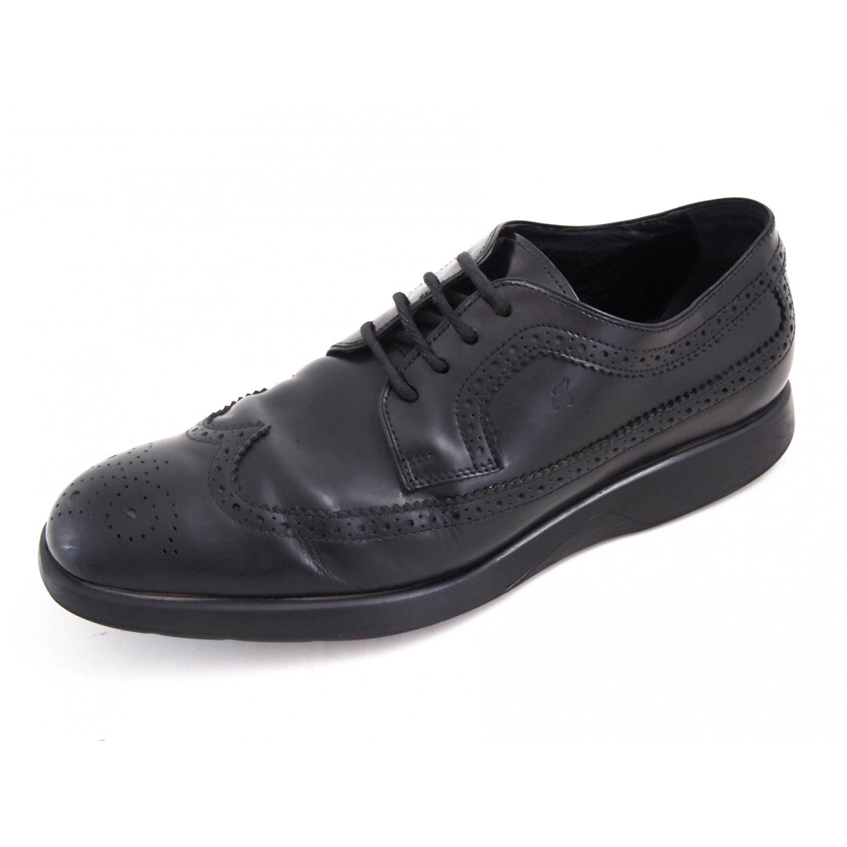 Hogan \N Black Leather Lace ups for Men 42 EU