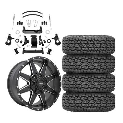 Genuine Packages Trail Master 6 Knuckle Suspension Lift Kit with Pro Comp 48 Series Quick 8 Wheels and Pro Comp A/T Sport Tires
