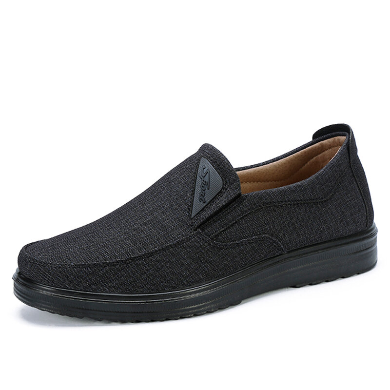 Men Old Peking Style Breathable Fabric Comfy Soft Slip On Casual Shoes