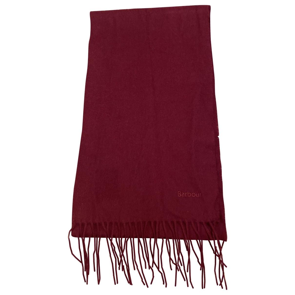 Barbour \N Red Wool scarf for Women \N