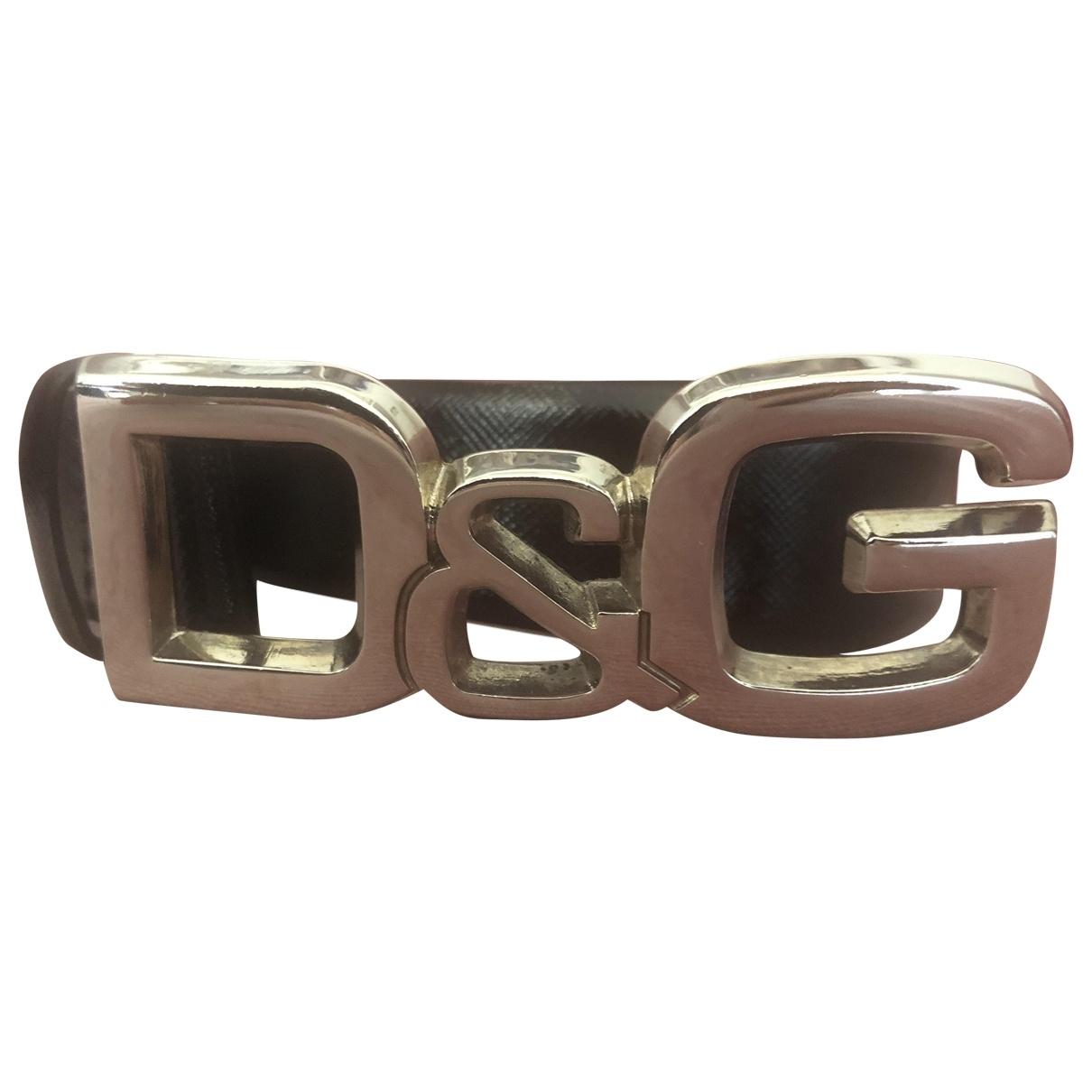 D&g \N Black Leather belt for Women S International