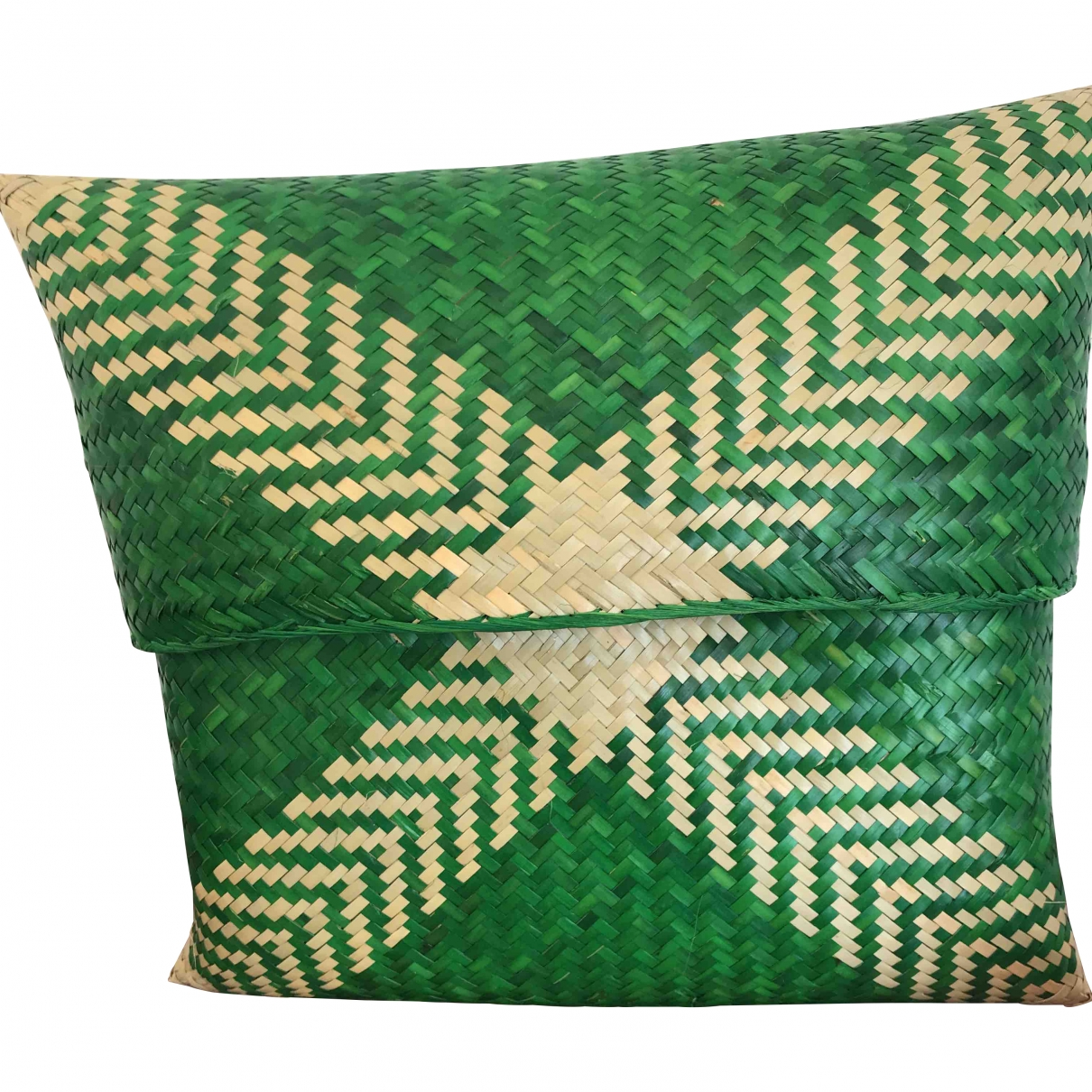 Non Signé / Unsigned \N Green Wicker Clutch bag for Women \N