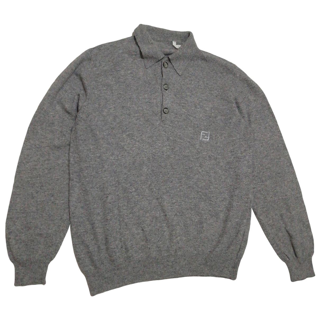 Fendi \N Grey Wool Knitwear & Sweatshirts for Men 48 IT