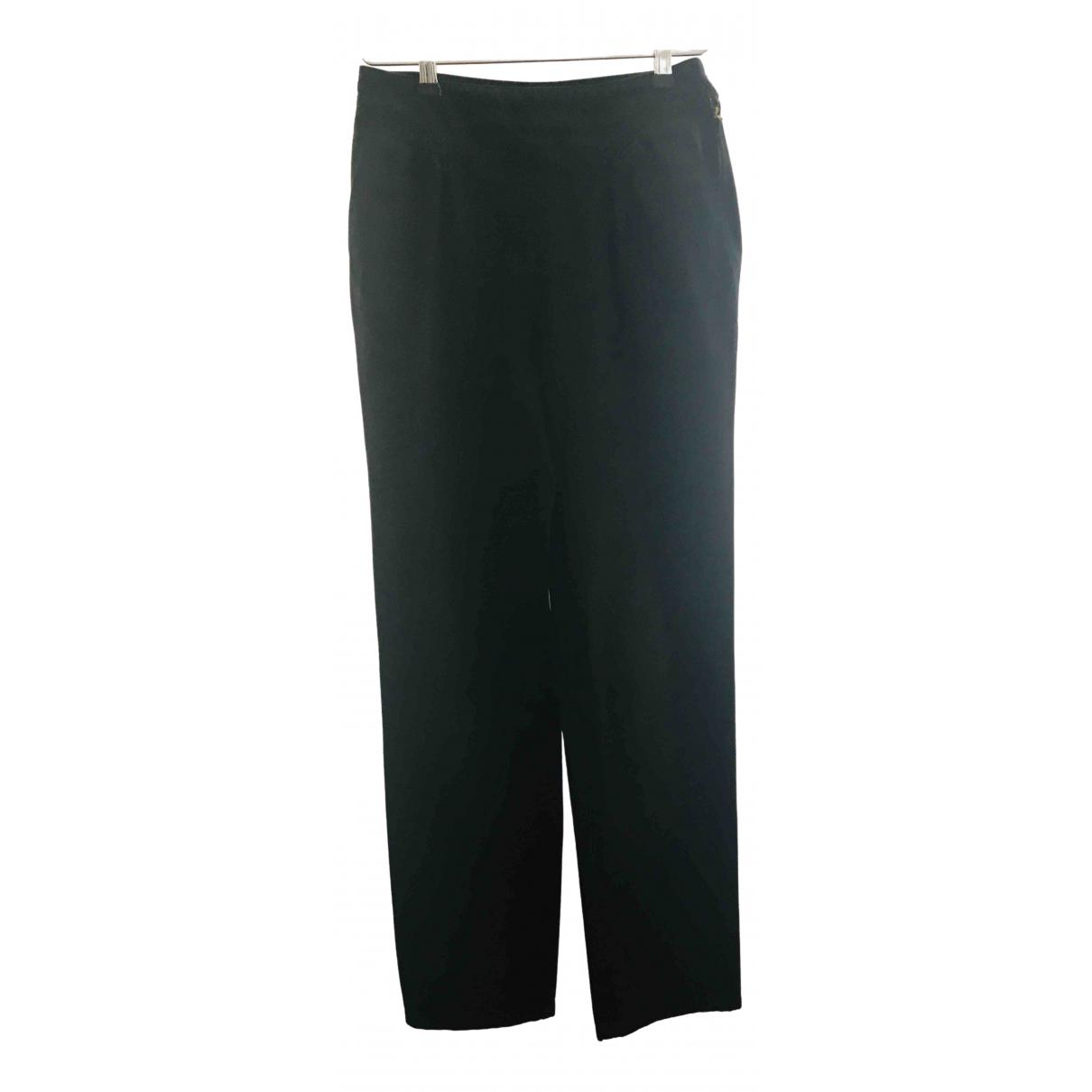 Bernhard Willhelm \N Black Cotton Trousers for Women 38 FR