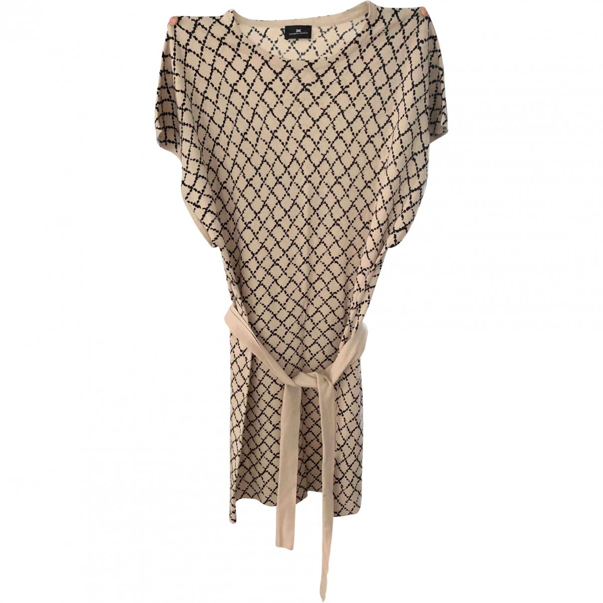 Elisabetta Franchi \N Beige Cotton dress for Women 42 IT