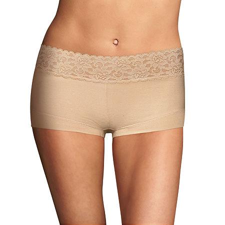 Maidenform Dream Cotton Knit Boyshort Panty 40859, 5 , Brown