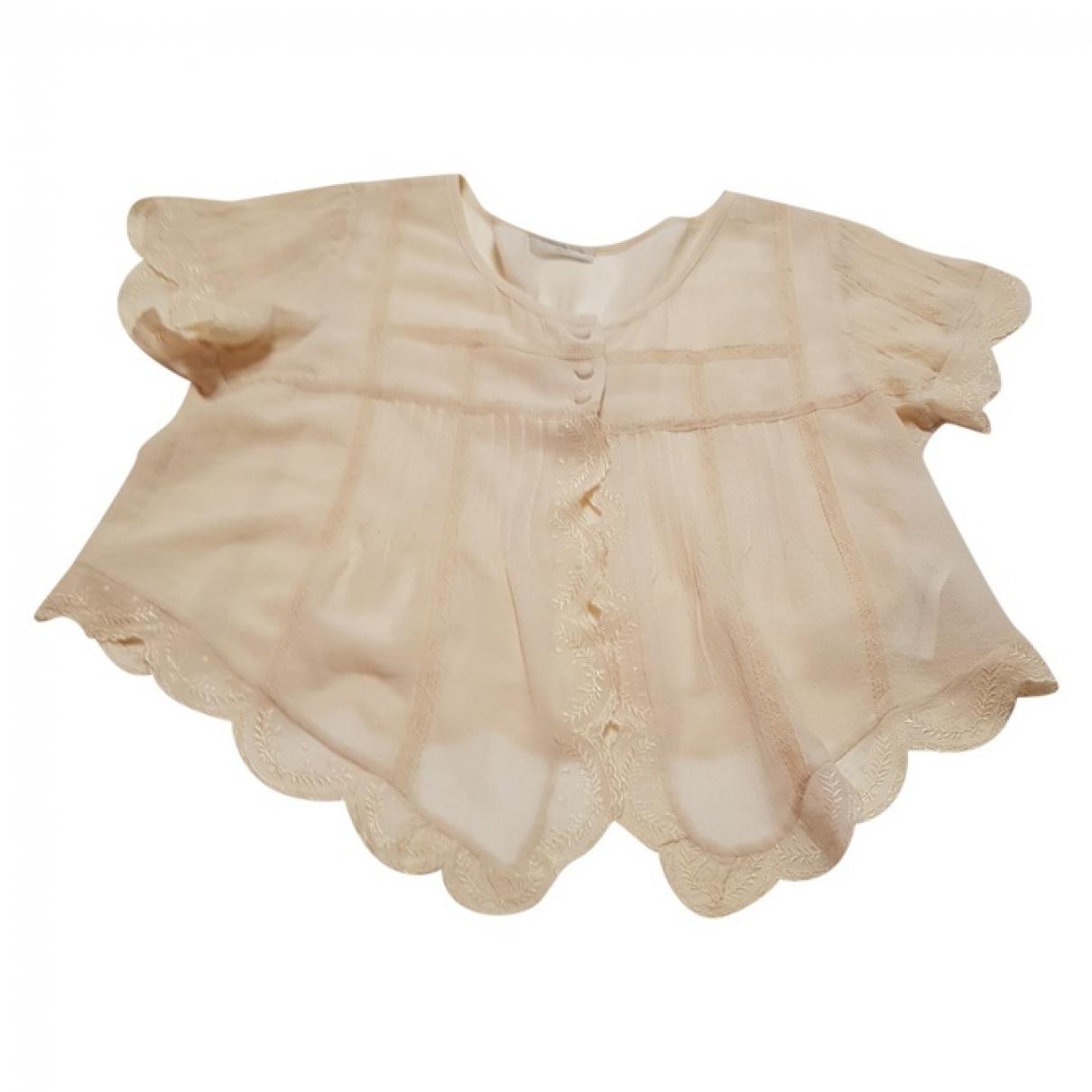 Massimo Dutti \N Ecru Silk jacket for Women 38 FR